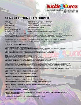 Senior technician job