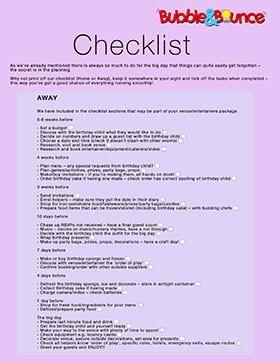 Checklist Away