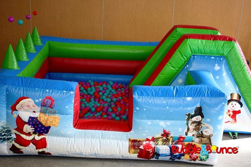 Christmas ball pond & slide
